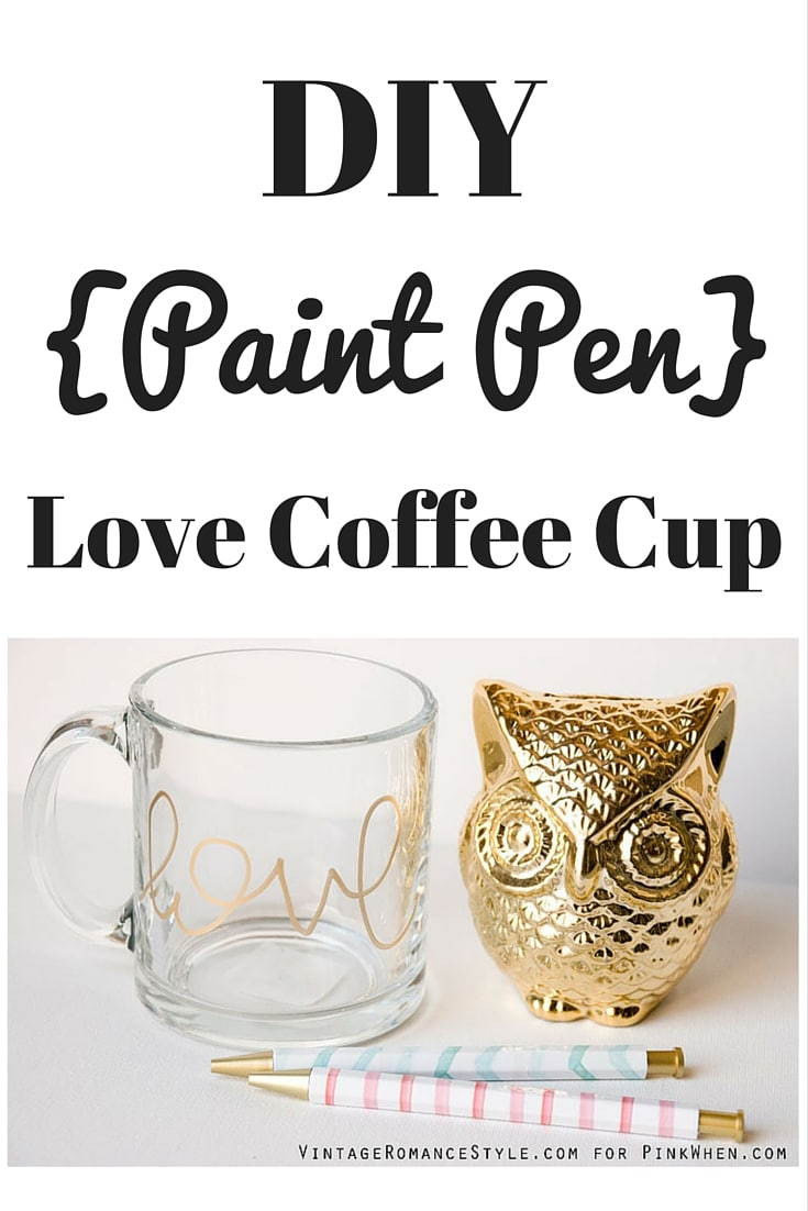 DIY Love Coffee Cup