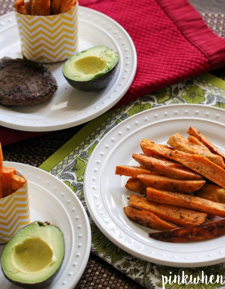 These delicious home cut sweet potato fries are healthy and deliciously easy to make! | PinkWhen
