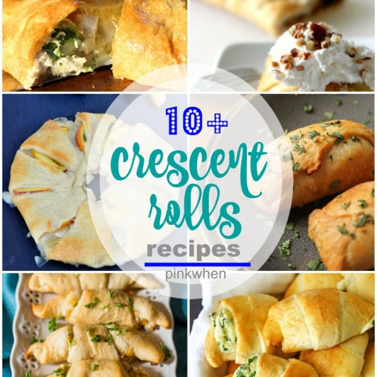 10+ Crescent Rolls Recipes - from breakfast, brunch, lunch, and dinner.
