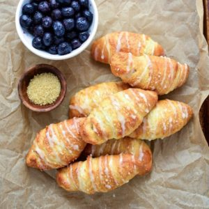 Blueberry Almond Crescent Rolls