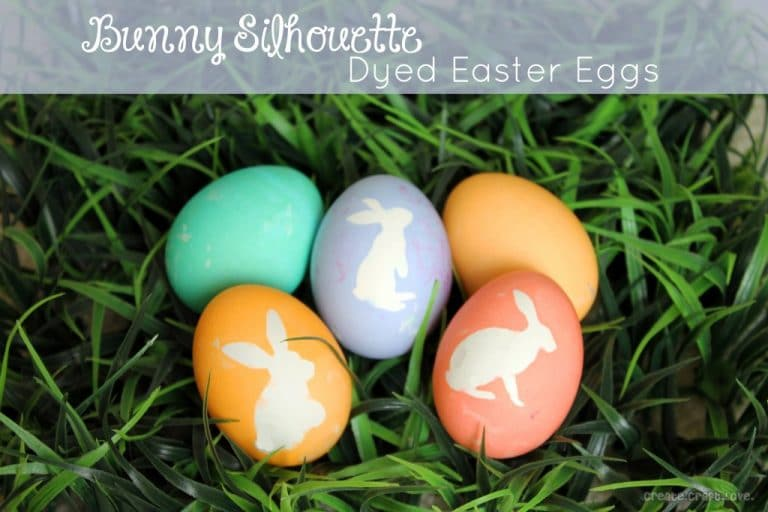 Bunny Silhouette Easter Eggs
