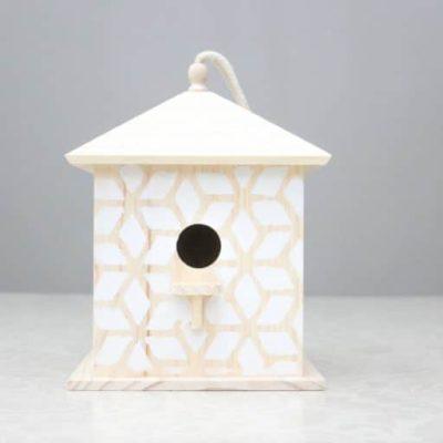 How to make a DIY Stenciled Bird House