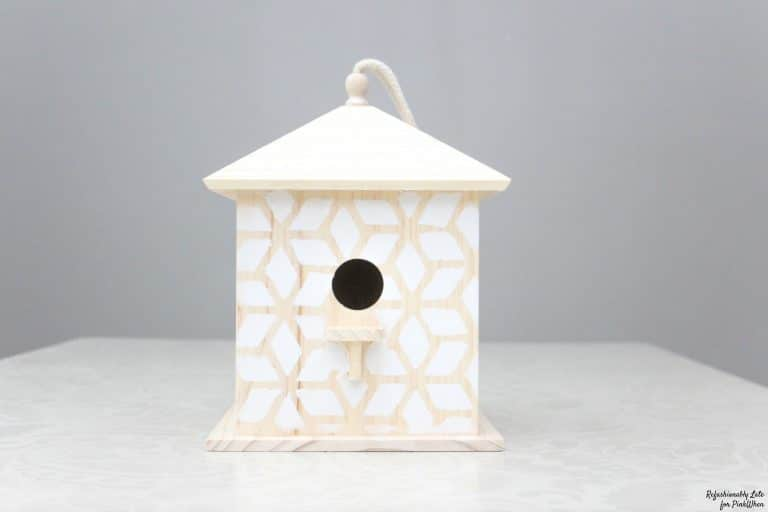 DIY Stenciled Bird House
