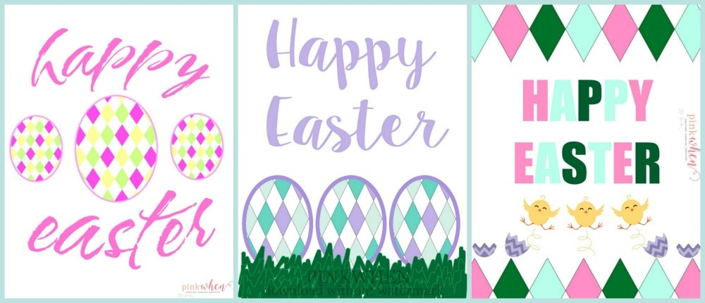 Download all three free Easter Printables over on PinkWhen.