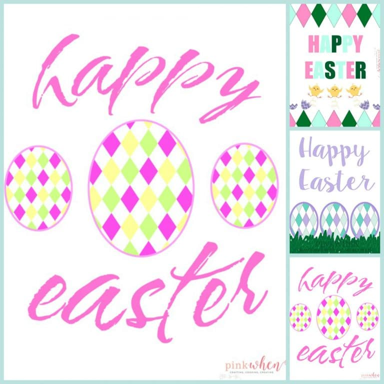 Download all three of these Free Easter Printables found on PinkWhen.