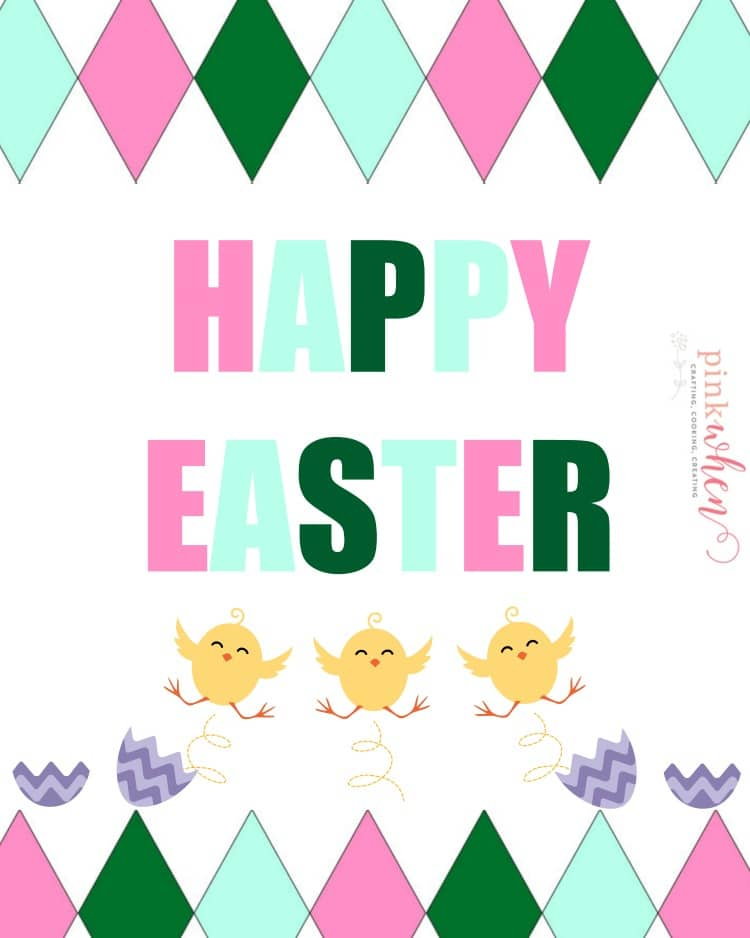 Happy Easter Printable JPG
