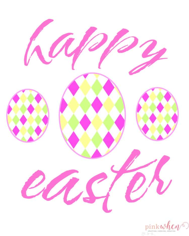Happy Easter Printable Web