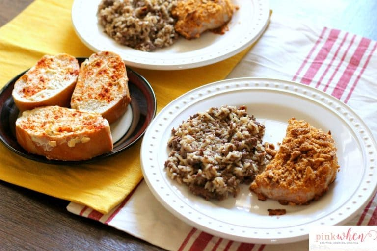Cajun Oven Baked Pork Chops make with cajun spices and Onion Thyme Harvest Snaps. You'll want to lick the plate clean with this simple dinner recipe!