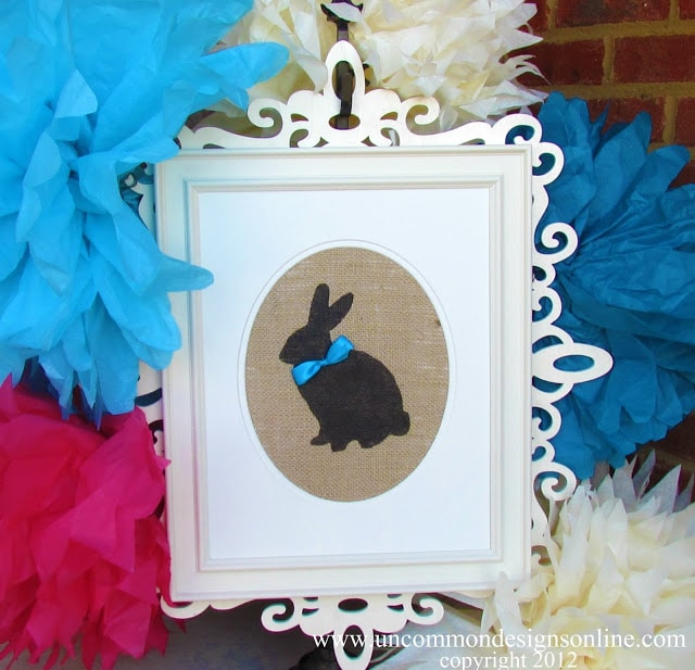 bunny silhouette for party