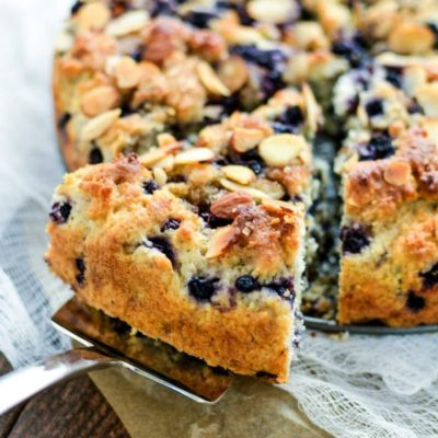Gluten Free Almond Blueberry Coffee Cake