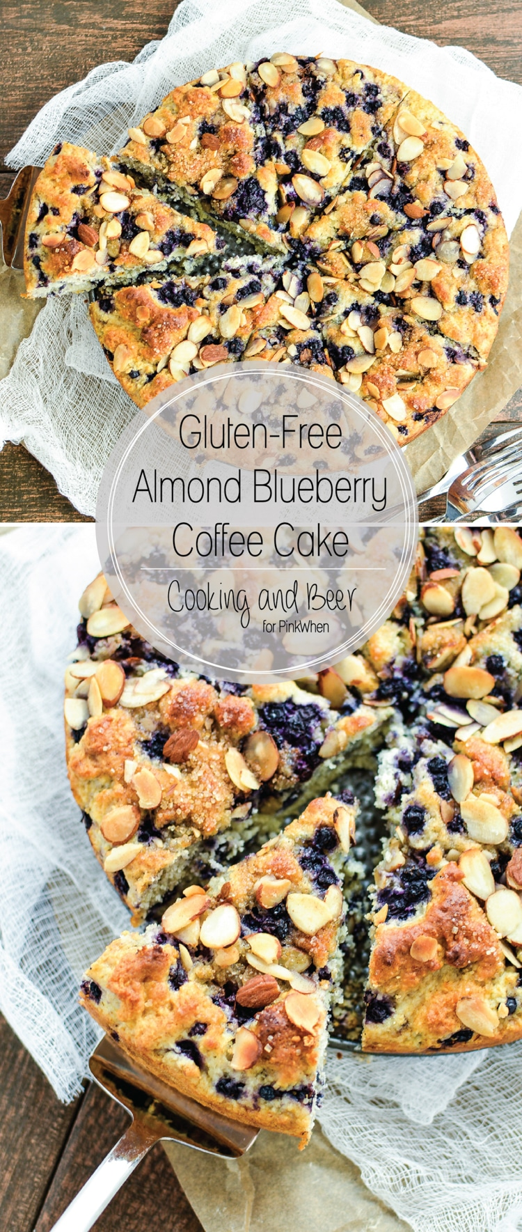 Gluten Free Almond Blueberry Coffee Cake - PinkWhen