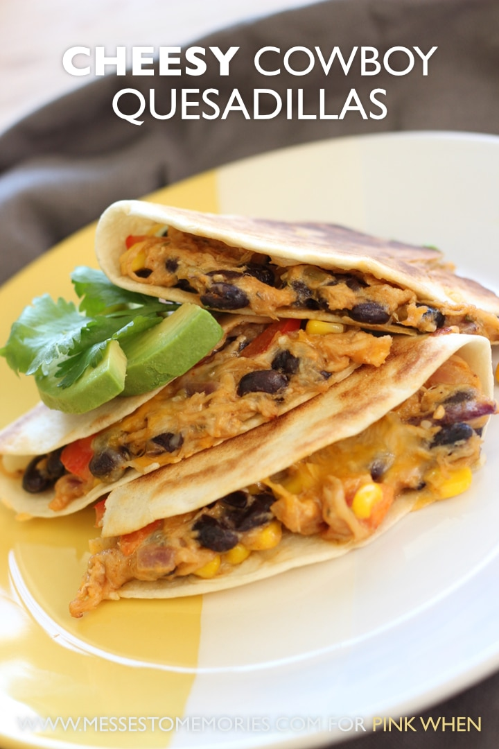 Cheesy Cowboy Quesadillas Recipe -Pair these cheesy cowboy quesadillas with fruit and a salad and you have a super fast dinner