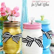 Paint & Sparkle Mason Vanity Jars