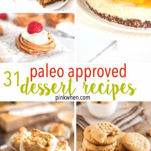 31 Delicious PALEO Dessert Recipes