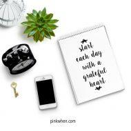 Grateful Heart Free Printable