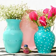 Glass Vase Makeover