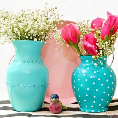 Glass Vase Makeover