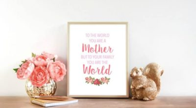 A beautiful Mother's Day Free Printable download.