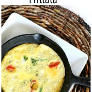 Simple Spinach and Tomato Frittata