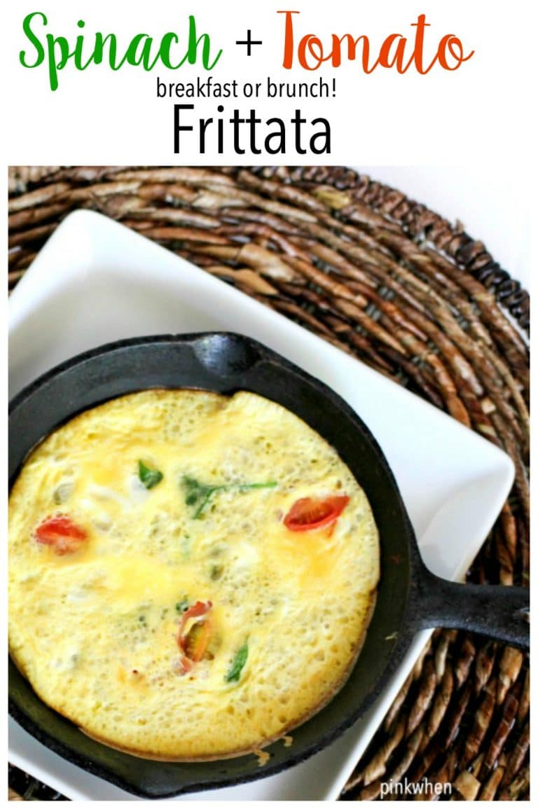 Spinach and Tomato Frittata - the perfectly healthy breakfast or brunch!