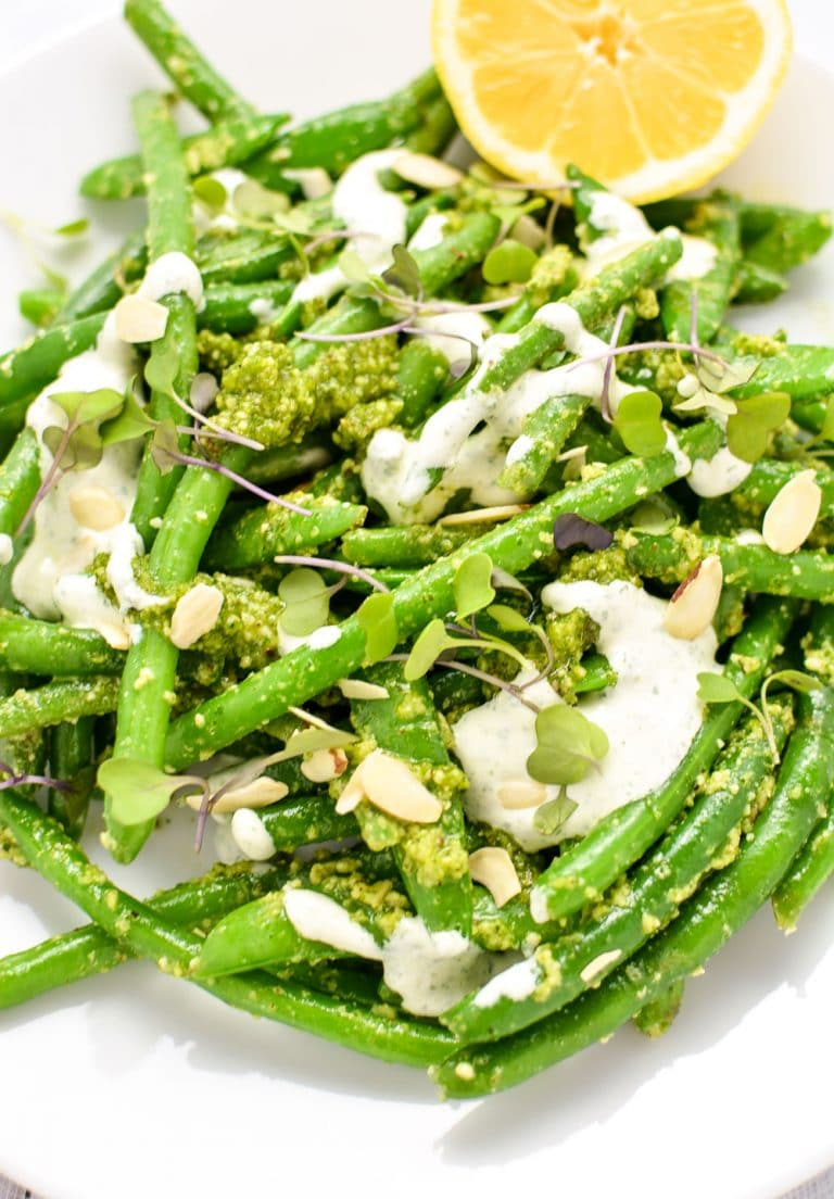green beans with pistachio pesto green beans with pistachio pesto ...