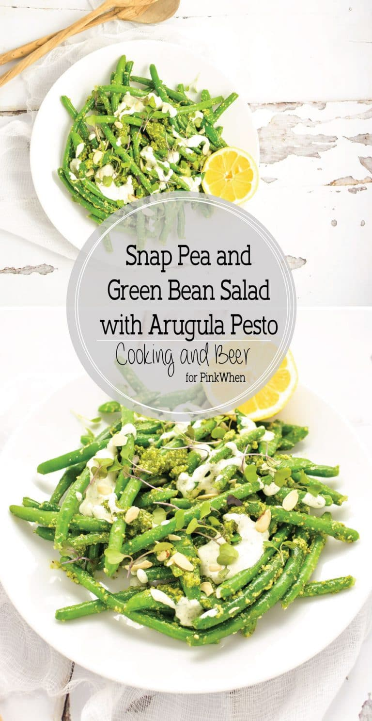 ... this snap pea and green bean salad with arugula pesto is below! Enjoy
