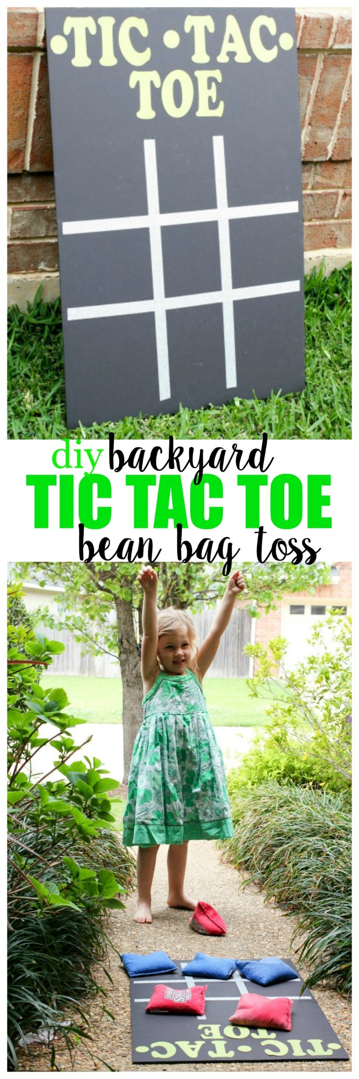 Backyard Tic Tac Toe Bean Bag Toss - Quick and easy, and great for indoors, or outside!