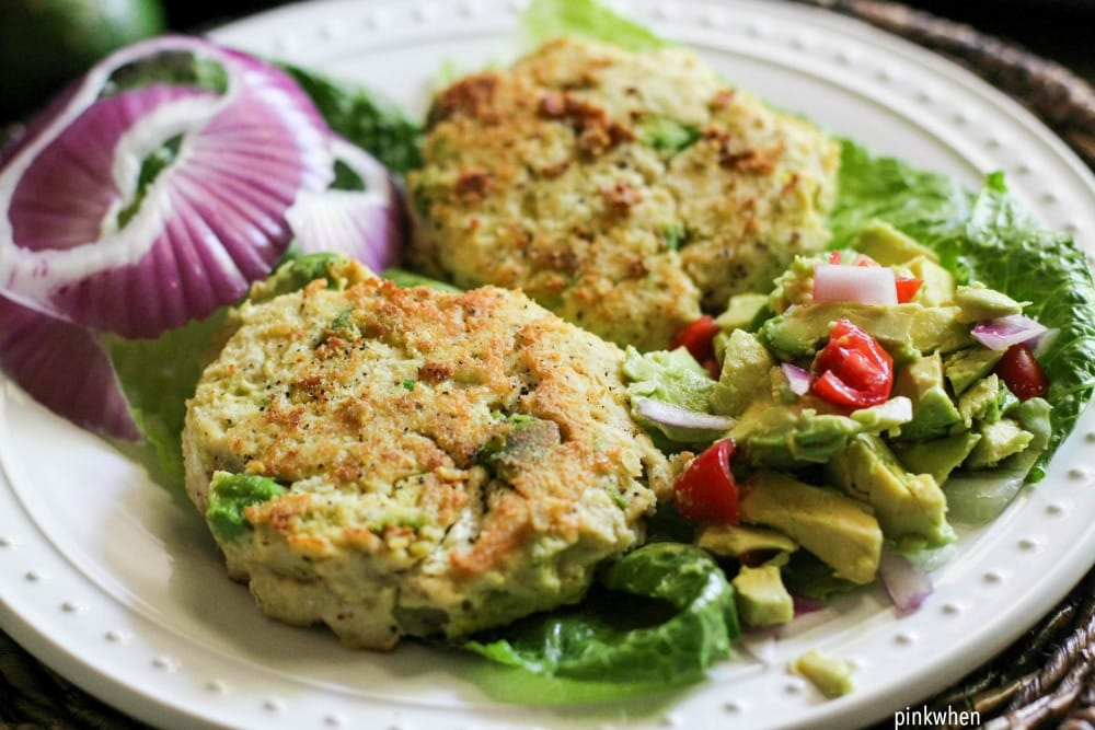 Chicken Avocado Burger Recipe with modified Avocado Salsa