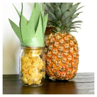 Pineapple Mason Jar Snack and Craft