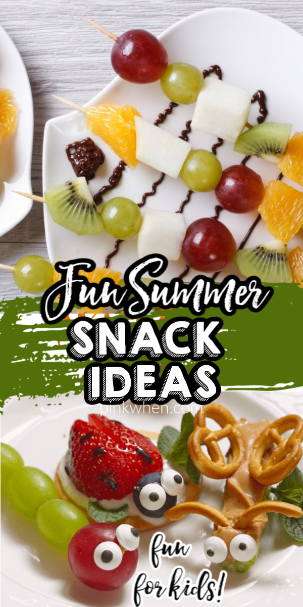 A list of our favorite Summer snacks, treats and eats for kids. These fun Summer snacks ideas are easy, and the kids will love to help you put them together.