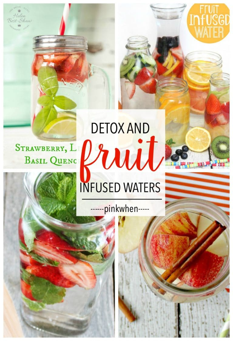 Clean eating starts with adding water to your diet. Check out these Fruit Infused and Detox Waters Recipes