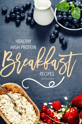 Healthy High Protein Breakfast Recipes. Start your day of right by kick starting your metabolism, burning calories, and building lean muscle mass with these delicious breakfast recipes.