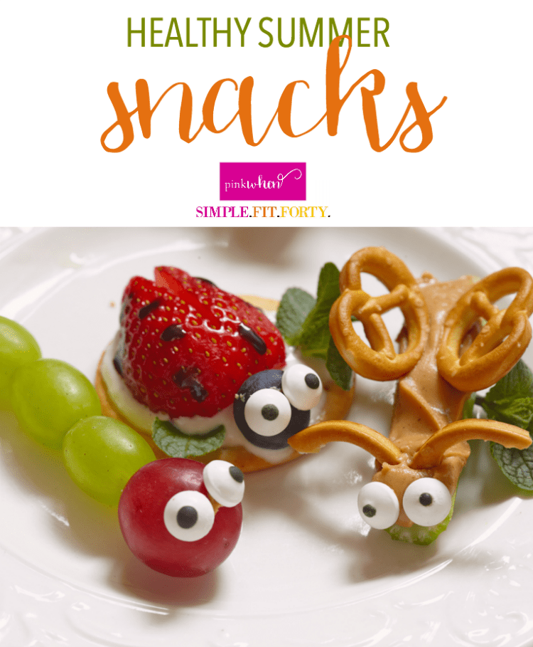 Healthy Summer Snacks with a little fruit and vegetable creativity.