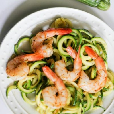 Shrimp Scampi Zoodles Recipe (Whole30, PALEO, Simple Fit Forty)