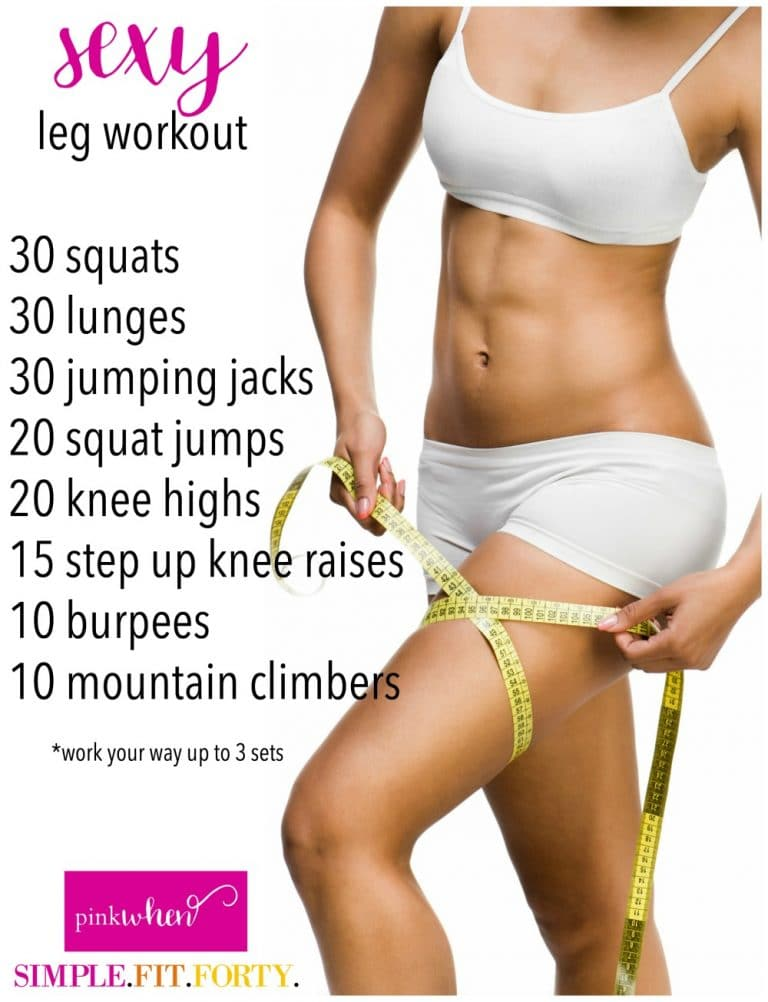 Super Sexy Legs workout to remove the jiggle and increase tone!