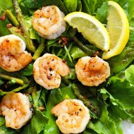 Garlic Lemon Pepper Shrimp Salad (Clean eating)