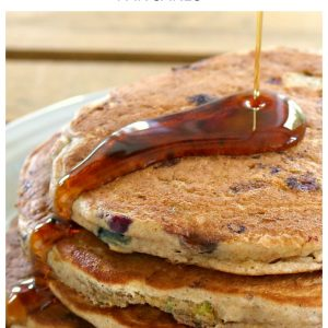 Clean Eating Blueberry Zucchini Pancakes
