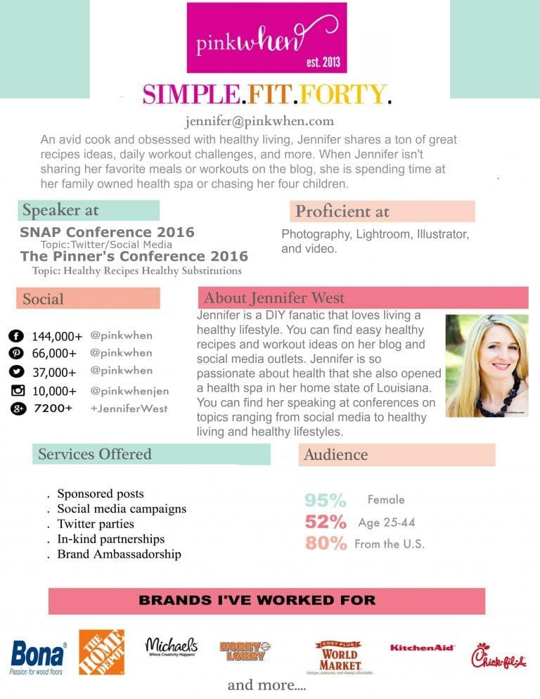 PinkWhen Blog Media Kit - July 2016