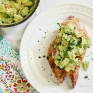 Spicy Seasoned Grilled Chicken with Avocado Salsa. A delicious and healthy dinner. Popular Pin!