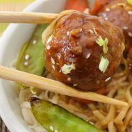 Easy Asian Sweet Chili Chicken Meatballs
