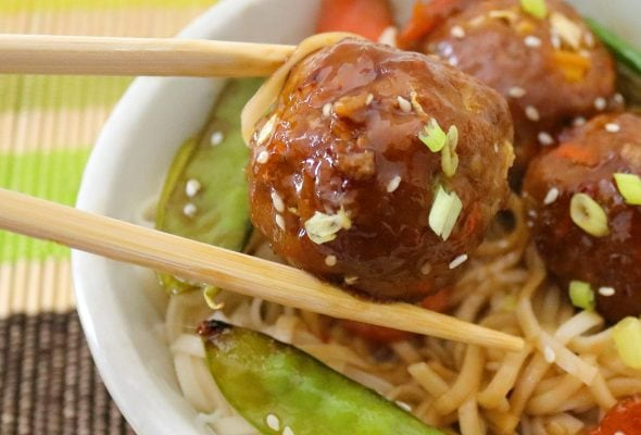 sweet chili chicken meatballs