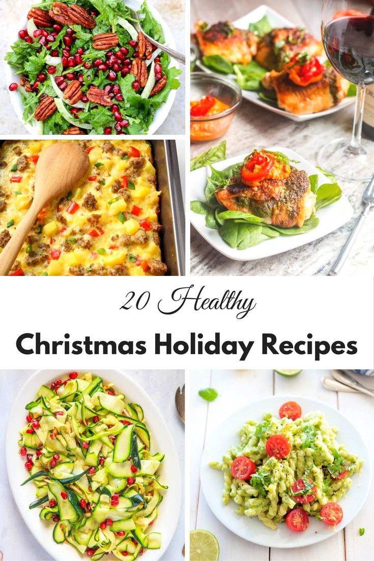 Are you looking for a little less guilt this Christmas while menu planning?  Check out this great list of 20 healthy Christmas Holiday Recipes.
