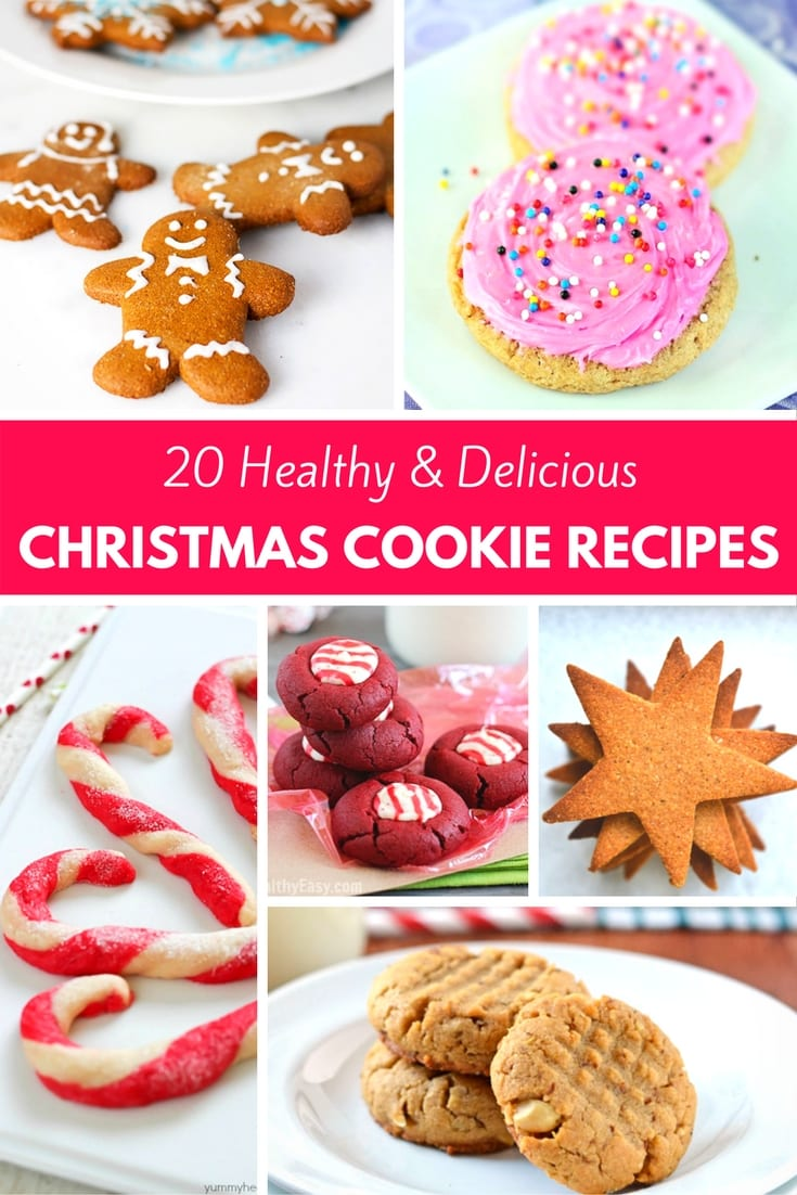 Looking for Christmas Cookie Recipes without the guilt? Check out this list of 20 Healthy Delicious Christmas Cookie Recipes