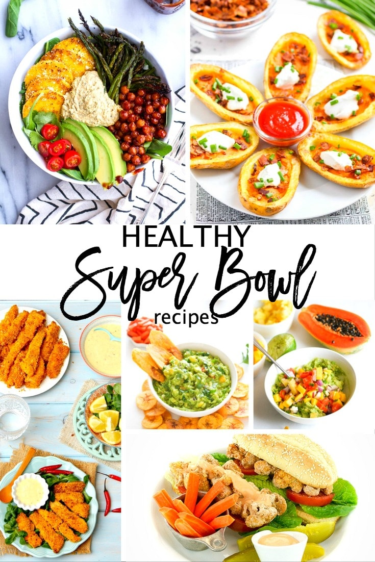 These healthy super bowl recipes will not only hit the spot, but will allow you to stay true to those New Year's Resolutions! Over 20 Healthy Super Bowl Recipes.