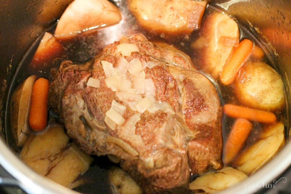 One of my favorite dinners, this Instant Pot Pressure Cooker Pot Roast recipe never gets old.