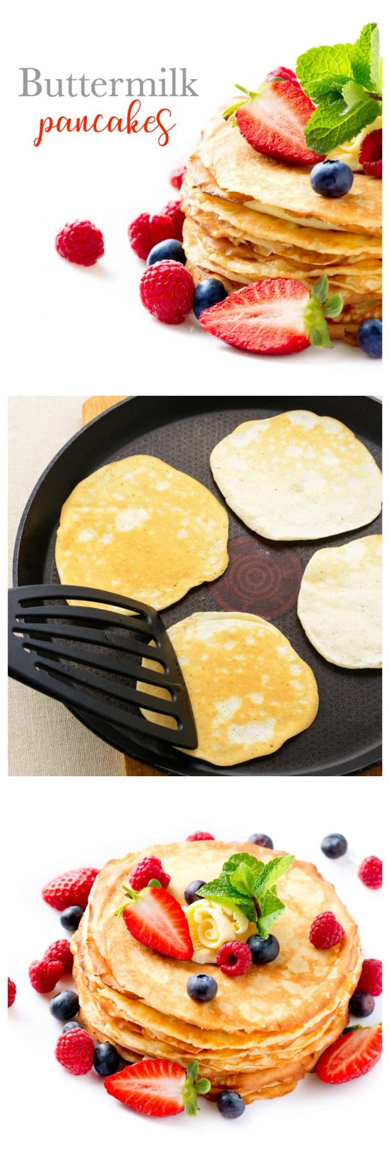 Make the perfect buttermilk pancakes with this delicious and easy recipe in under 15 minutes!