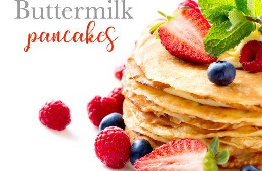 Looking for the perfect buttermilk pancake recipe? Then look no further! Save this recipe, it's a keeper for life!