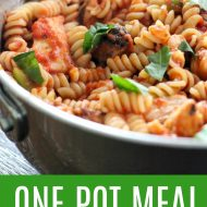 Easy Tomato Basil Chicken – One Pot Meal!