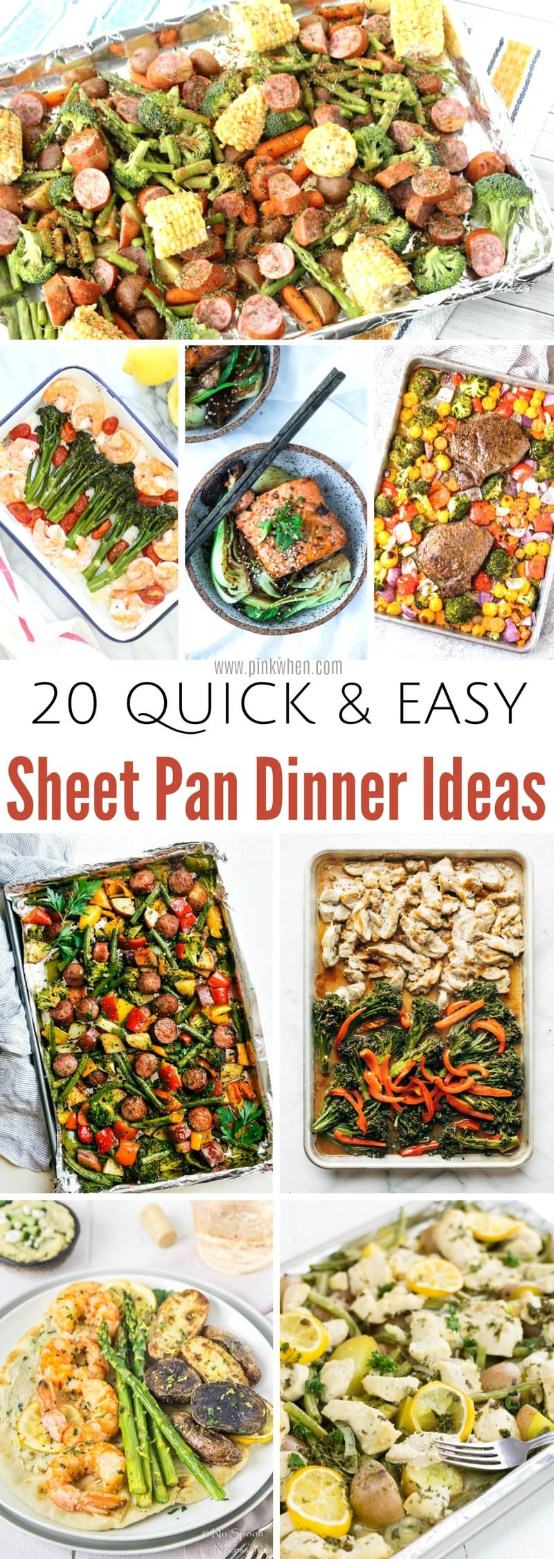20 Quick and Easy Sheet Pan Dinner Ideas.