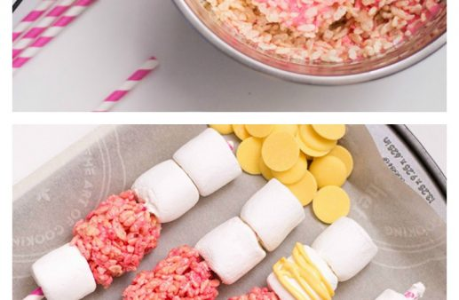 A cute and simple treat, these Mothers Day Dessert Skewers are fun for mom and kiddos! #MothersDay #DessertIdeas